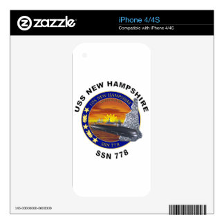 SSN 778 USS New Hampshire iPhone 4S Decal