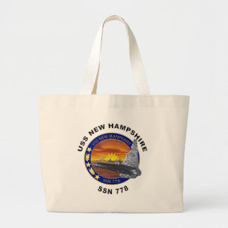 ssn 778 USS New Hampshire Large Tote Bag