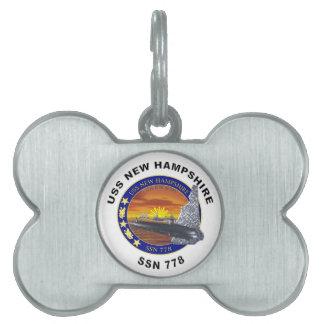 SSN 778 USS New Hampshire Placas De Mascota