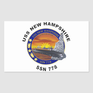 SSN 778 USS New Hampshire Rectangular Sticker