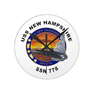 SSN 778 USS New Hampshire Round Clock