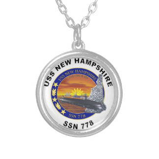 SSN 778 USS New Hampshire Round Pendant Necklace