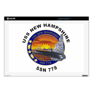 "SSN 778 USS New Hampshire Skin For 17"" Laptop"