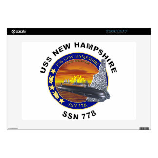 "SSN 778 USS New Hampshire Skins For 15"" Laptops"