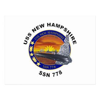 SSN 778 USS New Hampshire Tarjeta Postal