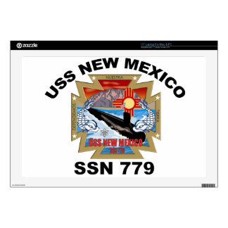 "SSN 779 USS New Mexico 17"" Laptop Decal"