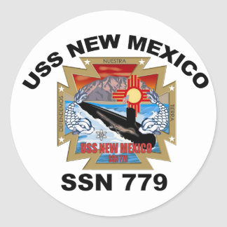 SSN 779 USS New Mexico Classic Round Sticker
