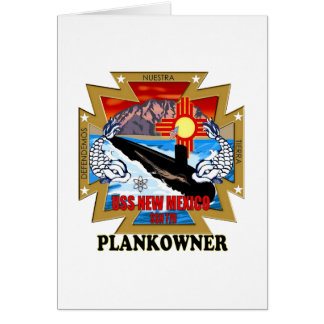 SSN 779 USS New Mexico Plankowner Card