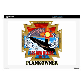 "SSN 779 USS New Mexico Plankowner Decal For 17"" Laptop"