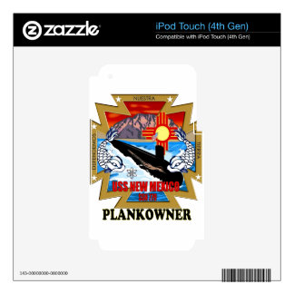 SSN 779 USS New Mexico Plankowner Decals For iPod Touch 4G