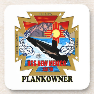 SSN 779 USS New Mexico Plankowner Drink Coaster