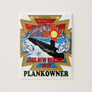 SSN 779 USS New Mexico Plankowner Jigsaw Puzzle