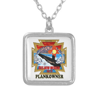 SSN 779 USS New Mexico Plankowner Square Pendant Necklace