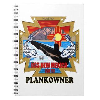 SSN 779 USS New Mexico Plankowner Notebook