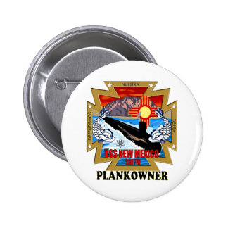 SSN 779 USS New Mexico Plankowner Pinback Button