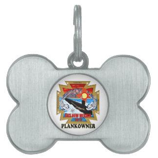 SSN 779 USS New México Plankowner Placa De Mascota