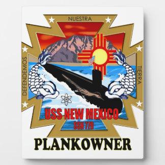 SSN 779 USS New México Plankowner Placas De Plastico