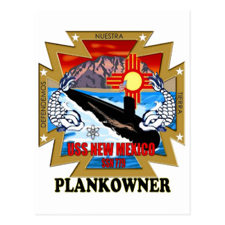 SSN 779 USS New Mexico Plankowner Postcard