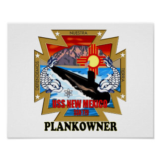 SSN 779 USS New Mexico Plankowner Poster