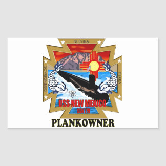 SSN 779 USS New Mexico Plankowner Rectangular Sticker