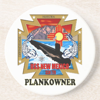 SSN 779 USS New Mexico Plankowner Sandstone Coaster