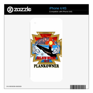 SSN 779 USS New Mexico Plankowner Skin For iPhone 4S