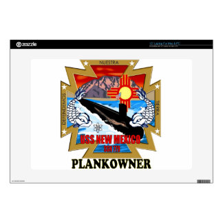 """SSN 779 USS New Mexico Plankowner Skins For 15"""" Laptops"""