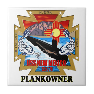 SSN 779 USS New Mexico Plankowner Tile