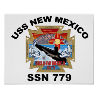 SSN 779 USS New Mexico Poster