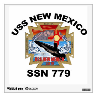SSN 779 USS New Mexico Wall Decal