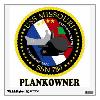 SSN 780 USS Missouri Plankowner Wall Decal