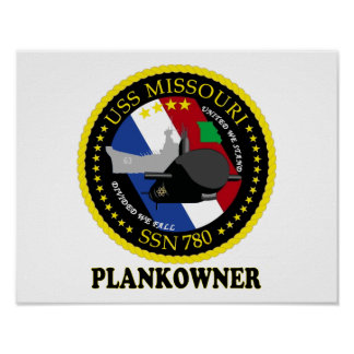 SSN 780 USS Missouri Poster