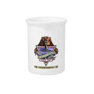 SSN 781 PCU California Pre-Commissioning Unit Beverage Pitcher