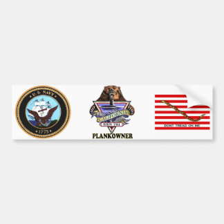 SSN 781 USS California Plank Owner Crest Bumper Sticker