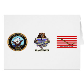 SSN 781 USS California Plank Owner Crest Card