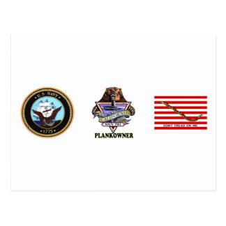 SSN 781 USS California Plank Owner Crest Postcard