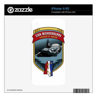 SSN 782 USS Mississippi Decal For The iPhone 4S