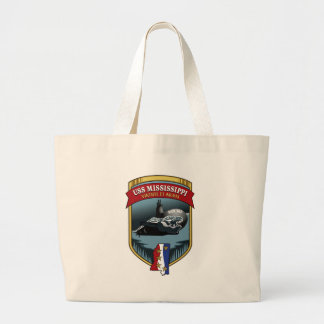 SSN 782 USS Mississippi Large Tote Bag