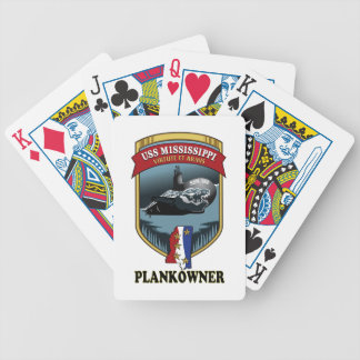 SSN 782 USS Mississippi Plankowner Bicycle Playing Cards