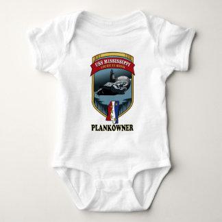 SSN 782 USS Mississippi Plankowner Body Para Bebé