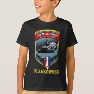 SSN 782 USS Mississippi Plankowner Camisas
