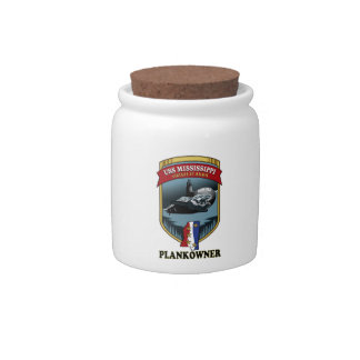 SSN 782 USS Mississippi Plankowner Candy Jar