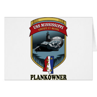SSN 782 USS Mississippi Plankowner Card