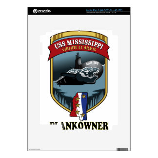 SSN 782 USS Mississippi Plankowner Decal For iPad 3