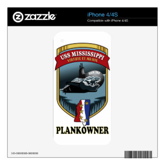 SSN 782 USS Mississippi Plankowner Decals For The iPhone 4S