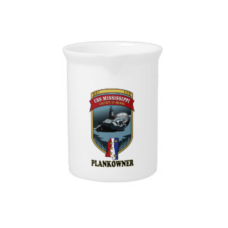 SSN 782 USS Mississippi Plankowner Drink Pitcher