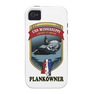 SSN 782 USS Mississippi Plankowner iPhone 4 Carcasas