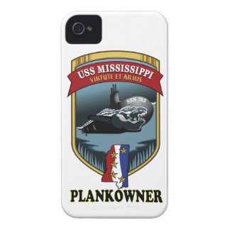 SSN 782 USS Mississippi Plankowner iPhone 4 Case-Mate Case