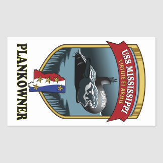 SSN 782 USS Mississippi Plankowner Rectangular Sticker