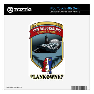 SSN 782 USS Mississippi Plankowner Skin For iPod Touch 4G